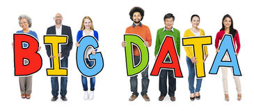 Group of Diverse People Holding Big Data Royalty Free Stock Photo