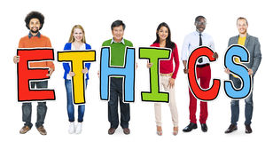 Group of Diverse People Holding Ethics Stock Photos