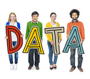 Group of Diverse People Holding Word Data Royalty Free Stock Photography
