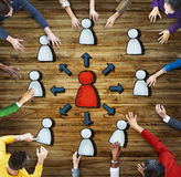 Group of Diverse People with Networking Symbol Royalty Free Stock Photo