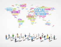 Group of Diverse People Social Networking Royalty Free Stock Photography