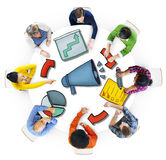 Group of Diverse People with Symbols Royalty Free Stock Images