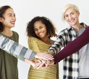 Group of diverse people together as a team Stock Image
