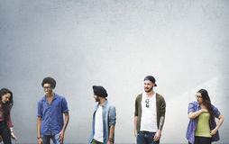 Group Diverse Students People Wall Concept stock photography