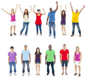 Group of Diverse Young People Celebrating Stock Photo