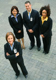 Group Of Diversity Business People. Standing. caucasian, african american, asian Stock Image