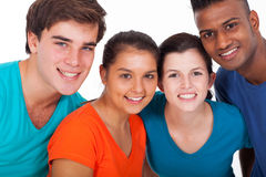 Group diversity people. Group of smiling young diversity people on white background Stock Images
