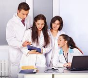 Group of doctor at hospital. Stock Photo