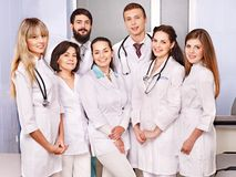 Group of doctor at hospital. Royalty Free Stock Image