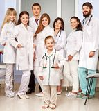 Group of doctor at hospital. Royalty Free Stock Images