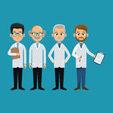Group doctor professional staff Royalty Free Stock Images