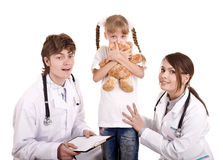 Group of doctor treat child. Medicine. Stock Photography