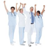 Group of doctors celebrating success Royalty Free Stock Photography