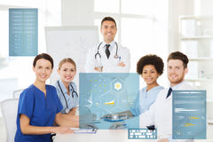 Group of doctors on conference at hospital Royalty Free Stock Photo