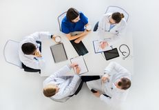 Group of doctors having coffee break at hospital Royalty Free Stock Image