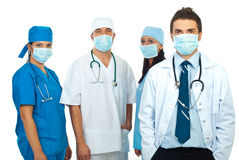Group of doctors with masks Royalty Free Stock Images