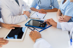 Group of doctors meeting at hospital office Stock Image