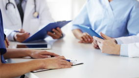 Group of doctors at meeting in hospital