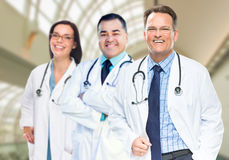Group of Doctors or Nurses Inside Hospital Building Stock Photography