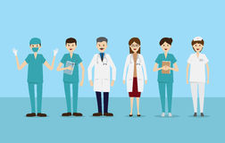 Group doctors nurses staff people medical team stock images