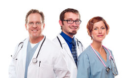 Group of Doctors or Nurses on a White Background Royalty Free Stock Image