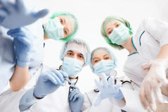 Group of doctors in operating room Royalty Free Stock Photos