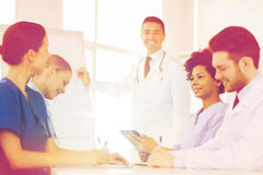 Group of doctors on presentation at hospital Stock Images