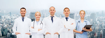 Group of doctors with stethoscopes and clipboard Stock Photography