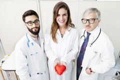 Group of doctors with a symbol heart Royalty Free Stock Images