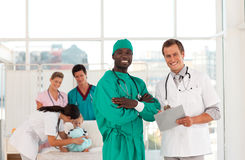 Group of Doctors working together Royalty Free Stock Images