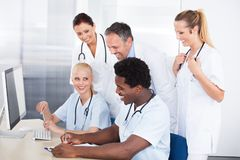 Group Of Doctors Working Together Royalty Free Stock Image