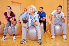 Group doing back training exercises Stock Images
