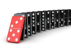 Group of dominoes in a row Royalty Free Stock Photography