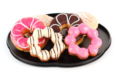 Group of donut on the tray Stock Photo