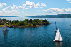 Group of dragon yacht sail in regatta Royalty Free Stock Photography