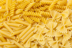 Group of dried Italian Pasta Royalty Free Stock Images