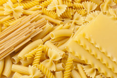 Group of dried Italian Pasta Royalty Free Stock Image