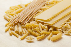 Group of dried Italian Pasta Royalty Free Stock Photos