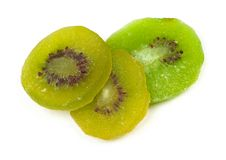 Group of dried kiwi fruit Stock Photo