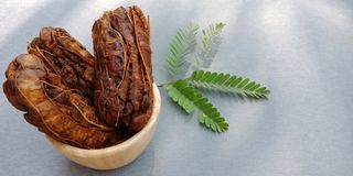 The group of dried tamarind royalty free stock images