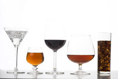 Group of drinks Royalty Free Stock Images