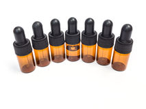 Group of dropper bottles. On white background royalty free stock photos