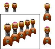 Group of dummies for crash test royalty free stock image