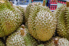 Group of durian in the market Royalty Free Stock Image