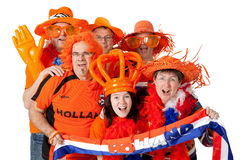 Group of  Dutch soccer fans Stock Photo