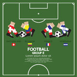 Group E Of 2014 Football (Soccer) Tournament. Group E Of 2014 Football (Soccer) Tournament Vector Illustration Royalty Free Stock Photography