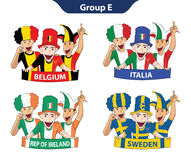 Group E Euro 2016 Royalty Free Stock Images