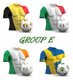 Group E European Football 2016 Stock Photo