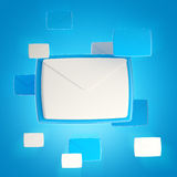 Group of e-mail letter icons Royalty Free Stock Photos