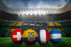 Group e world cup footballs Stock Photos